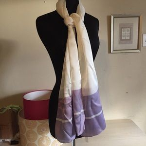 Lavender and White Scarf Made in Italy